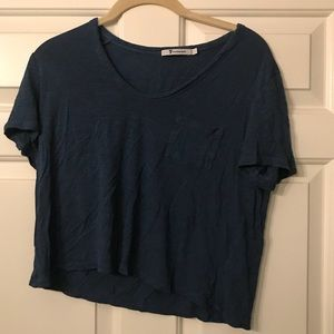 Blue crop top shirt. Alexander Wang